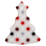 Pearly Pattern Christmas Tree Ornament (2 Sides) Front