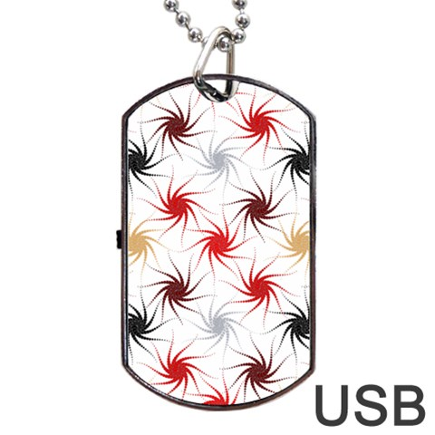 Pearly Pattern Dog Tag USB Flash (Two Sides)