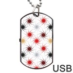Pearly Pattern Dog Tag USB Flash (Two Sides)  Back