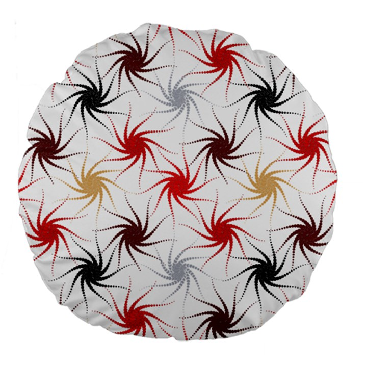 Pearly Pattern Large 18  Premium Round Cushions