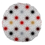 Pearly Pattern Large 18  Premium Round Cushions Back