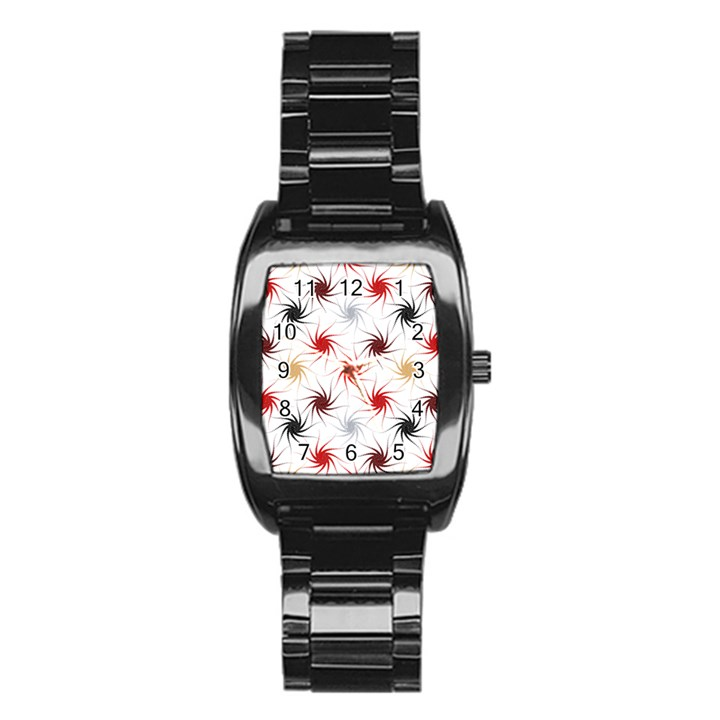 Pearly Pattern Stainless Steel Barrel Watch