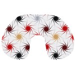 Pearly Pattern Travel Neck Pillows Back