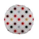 Pearly Pattern Standard 15  Premium Flano Round Cushions Back