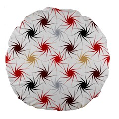 Pearly Pattern Large 18  Premium Flano Round Cushions