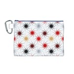 Pearly Pattern Canvas Cosmetic Bag (M) Front