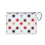 Pearly Pattern Canvas Cosmetic Bag (M) Back