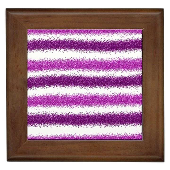 Pink Christmas Background Framed Tiles