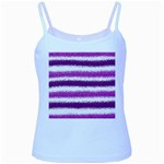 Pink Christmas Background Baby Blue Spaghetti Tank Front