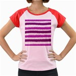 Pink Christmas Background Women s Cap Sleeve T-Shirt Front