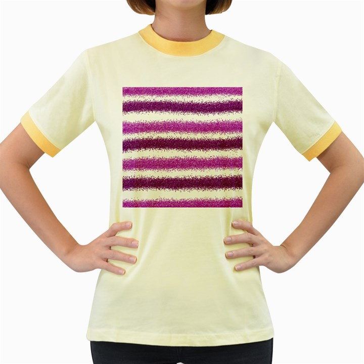 Pink Christmas Background Women s Fitted Ringer T-Shirts