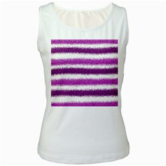 Pink Christmas Background Women s White Tank Top