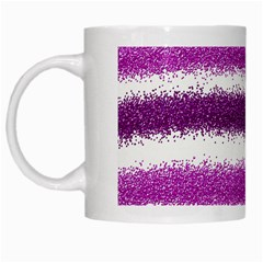Pink Christmas Background White Mugs