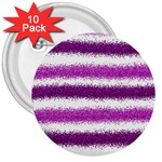 Pink Christmas Background 3  Buttons (10 pack)  Front