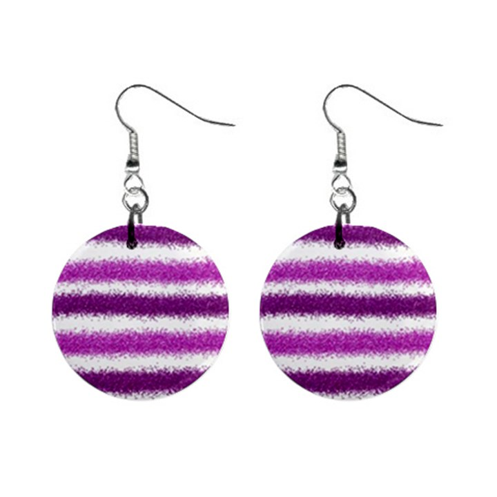 Pink Christmas Background Mini Button Earrings