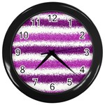 Pink Christmas Background Wall Clocks (Black) Front