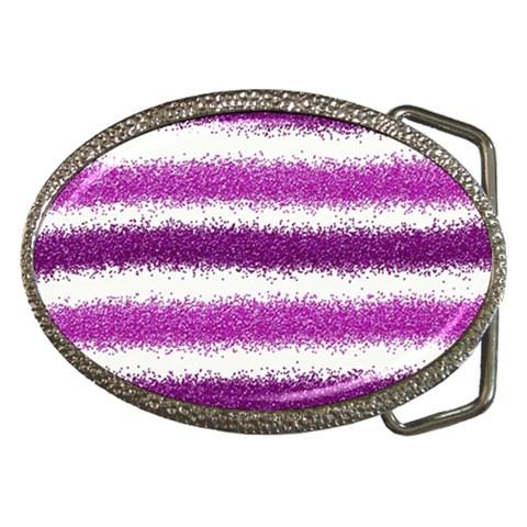 Pink Christmas Background Belt Buckles