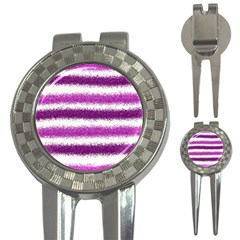 Pink Christmas Background 3-in-1 Golf Divots