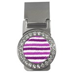 Pink Christmas Background Money Clips (CZ)  Front