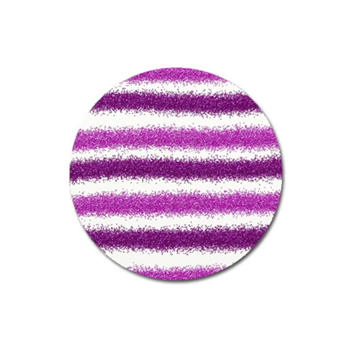 Pink Christmas Background Magnet 3  (Round)