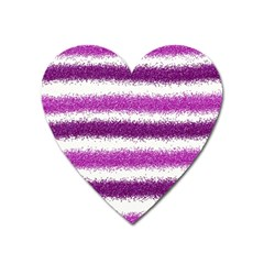 Pink Christmas Background Heart Magnet