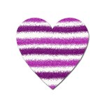 Pink Christmas Background Heart Magnet Front