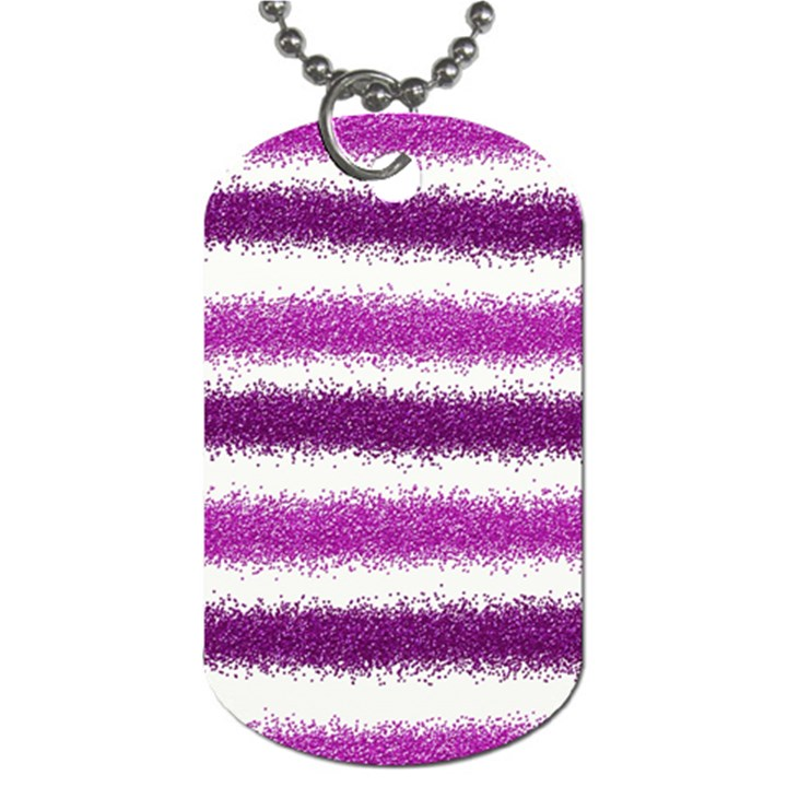 Pink Christmas Background Dog Tag (One Side)