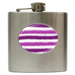 Pink Christmas Background Hip Flask (6 oz) Front