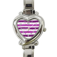 Pink Christmas Background Heart Italian Charm Watch