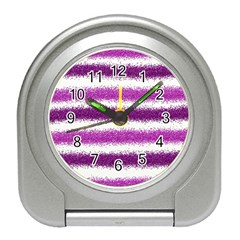 Pink Christmas Background Travel Alarm Clocks