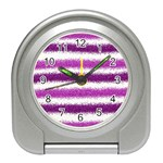 Pink Christmas Background Travel Alarm Clocks Front