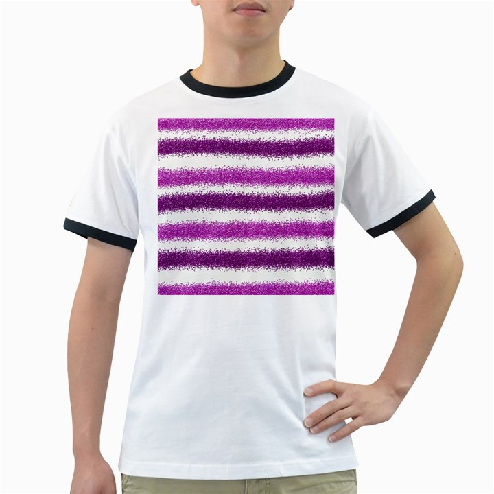 Pink Christmas Background Ringer T-Shirts