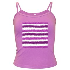 Pink Christmas Background Dark Spaghetti Tank