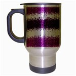 Pink Christmas Background Travel Mug (Silver Gray) Left
