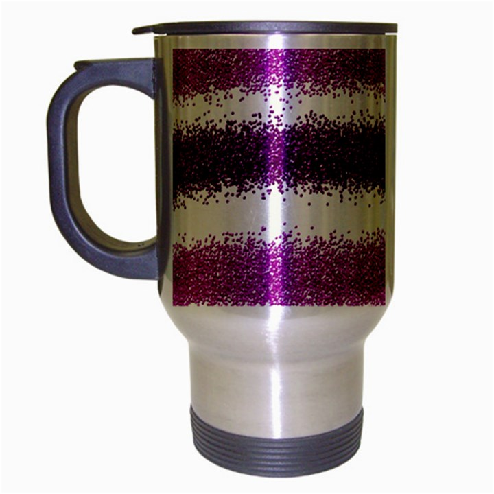 Pink Christmas Background Travel Mug (Silver Gray)