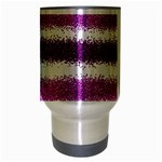 Pink Christmas Background Travel Mug (Silver Gray) Center