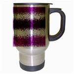 Pink Christmas Background Travel Mug (Silver Gray) Right