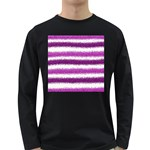 Pink Christmas Background Long Sleeve Dark T-Shirts Front