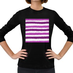 Pink Christmas Background Women s Long Sleeve Dark T-Shirts