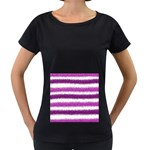 Pink Christmas Background Women s Loose-Fit T-Shirt (Black) Front