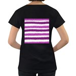 Pink Christmas Background Women s Loose-Fit T-Shirt (Black) Back
