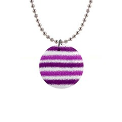 Pink Christmas Background Button Necklaces