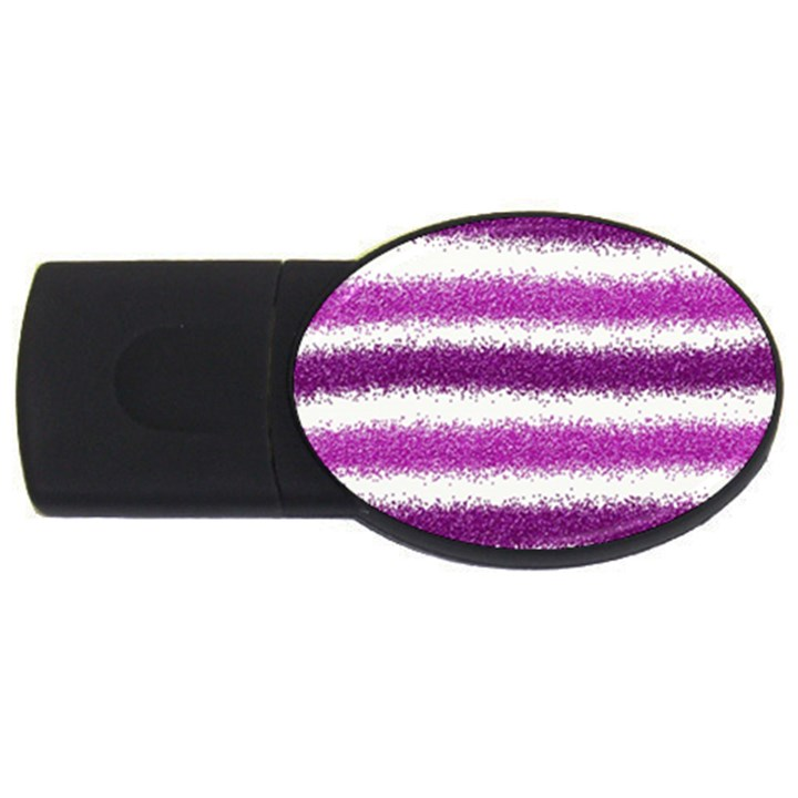 Pink Christmas Background USB Flash Drive Oval (4 GB)