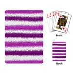Pink Christmas Background Playing Card Back