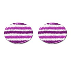Pink Christmas Background Cufflinks (Oval)