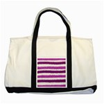Pink Christmas Background Two Tone Tote Bag Front
