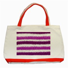 Pink Christmas Background Classic Tote Bag (Red)