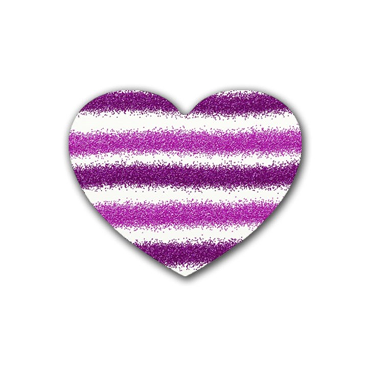 Pink Christmas Background Rubber Coaster (Heart)