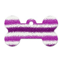 Pink Christmas Background Dog Tag Bone (One Side)