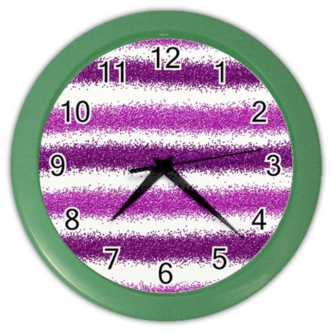 Pink Christmas Background Color Wall Clocks